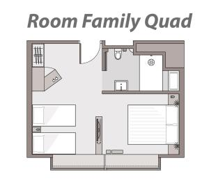 Family Quadruple Queen and Twin Room