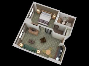 One-Bedroom Queen Suite - Disability Access Tub