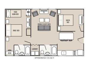Two Bedroom King Suite (4 Adults + 4 Children)