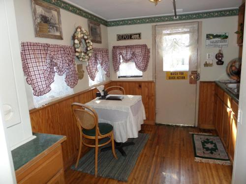 Livingston Junction Cabooses and Cabin Photo
