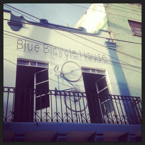Blue Bicycle House Photo