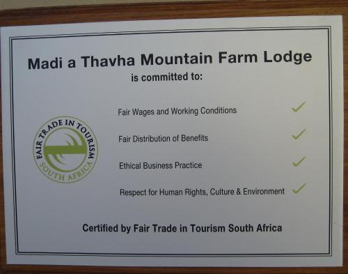Madi a Thavha Mountain Lodge Photo