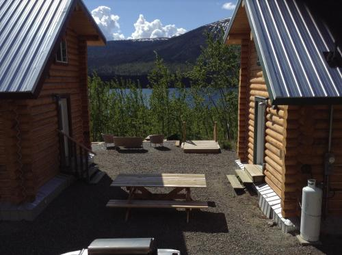 Cabins Over Crag Lake Photo