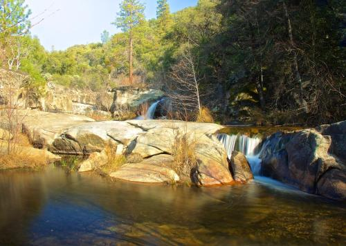 Riverfront Property with Waterfalls near Yosemite and Bass Lake Photo