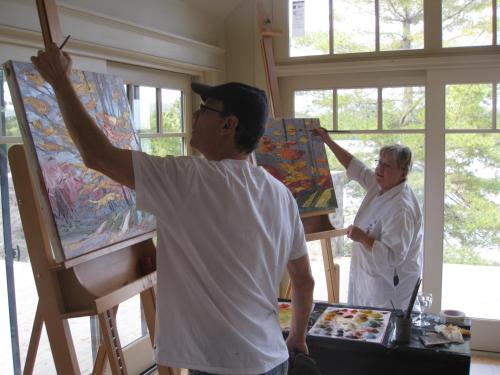 Gîte et Atelier de L'Artiste Peintre Paysagiste Canadien Gordon Harrison Photo