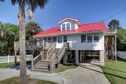 Folly Beach Red Roof Photo