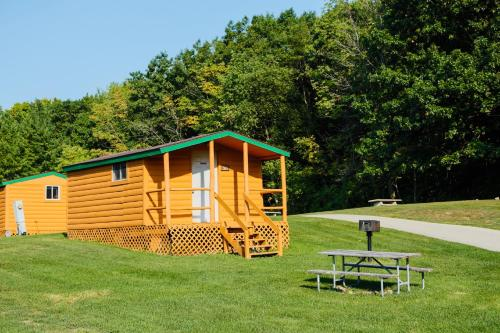 Plymouth Rock Camping Resort One-Bedroom Cabin 7 Photo