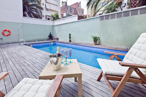 Apartment Barcelona Rentals - Gracia Pool Apartments Center