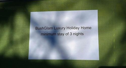 BushGlam Luxury Holiday Home Photo