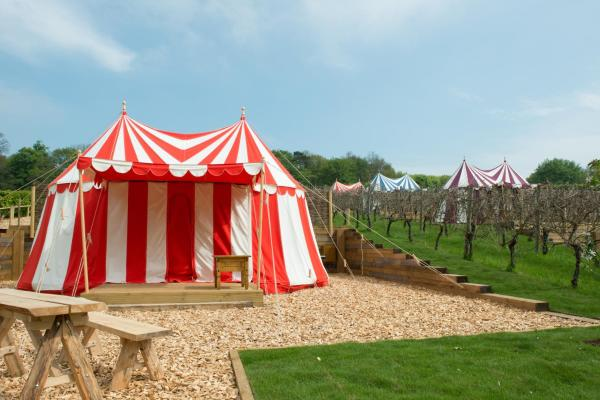 Knights Glamping at Leeds Castle in Leeds, Kent, England