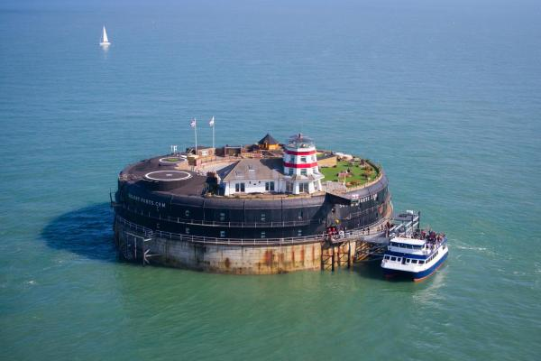 No Man's Fort in Seaview, Isle of Wight, England