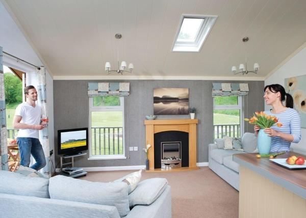 Parmontley Hall Lodges in Whitfield, Northumberland, England