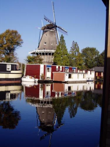 Houseboat under the Mill Photo