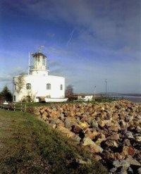 The West Usk Lighthouse in Newport, Gwent and Glamorgan, South Wales