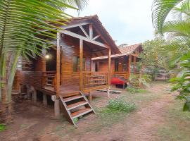 Rustic hut at Ashwem Beach, Goa, by GuestHouser 33445, Morjim