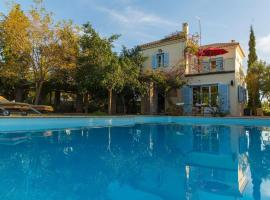 Sea View Pool Villa with Independent Guest house, Aegina
