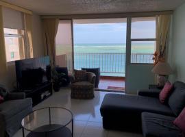 Beautiful Beachfront Top Floor Condo in Best Urban Beach Isla Verde Puerto Rico, San Juan