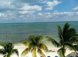 Front Beach Condo Mar Caribe Ocean Relaxing View Cancun Descanzo Total Awesome View, Cancún