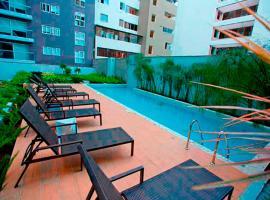 Upper pool Apartment in Pardo, Miraflores., Lima