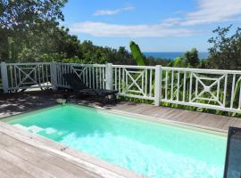 Charming villa at Pointe Batterie, Deshaies