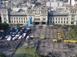 Amazing view towards Guatemalan Presidential House, Guatemala