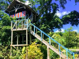 Tanna volcano view treehouse, Tanna Island