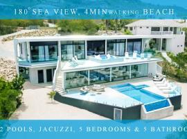 Exclusive private villa in resort, 180 °sea view, Willibrordus