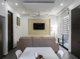 iPlaya - 401 - 1 Bedroom - 2 Single / New Apartment with Infinity Pool + Jacuzzi, Playa del Carmen