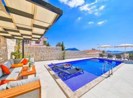 Kalkan Villa Sleeps 6 Pool Air Con WiFi, Kalkan