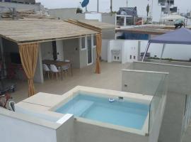 dpto frente a pico alto playa caballeros y piscina, Lima
