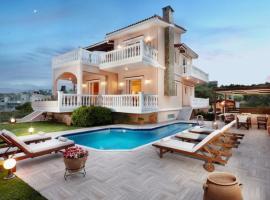 Kato Galatas Villa Sleeps 8 Pool Air Con WiFi, Kato Daratso