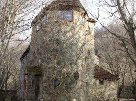 Chateau in forest. Qusar, shahdag. Azerbaijan, Qusar