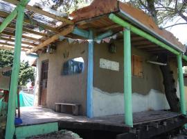cabaña de barro en reserva forestal, Santa Clara del Mar