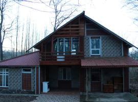 forest house with fireplace. Qusar, shahdag, Qusar