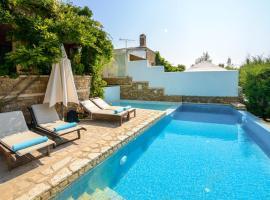 Elia Villa Sleeps 6 Pool Air Con WiFi, Elia