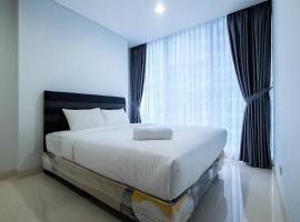 Well Equipped 1BR Brooklyn Alam Sutera Apartment near IKEA By Travelio, Dongkal Dua