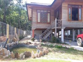 Modern wooden house, Duong Dong