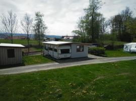 Luxus Wohnwagen Alpenblick