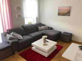 Vollmöbliertes 2-Zimmer Wohnung am Rhein mit grossem Balkon. Rheinblick