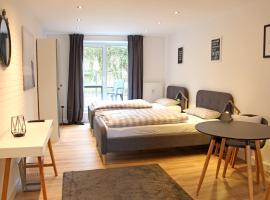 Moderne 1-Zimmer Wohnung mit Terasse, Küche, Bad mit Dusche, TV & WIFI