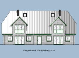 Pfahlbau, Ferienwohnung für 4 Personen - Erwachsene oder Kinder - in DE FEERJENHUSEN am Haubarg von Vollerwiek, Neubau Fertigstellung April 2020