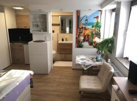 Ferienwohnung Apartment Dettum mit eigenem Bad, Kochnische und Wintergarten