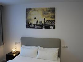 Apartment mit 1. Schlafzimmer und Rheinblick
