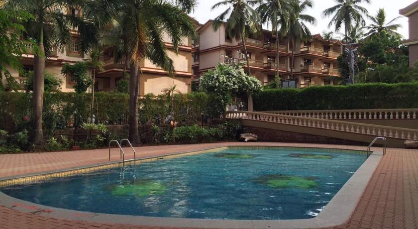 Swimming pool Ourgoaholidays 2Bhk first floor near the beach