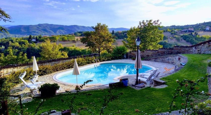Swimmingpool Castello di Grillano Guest House
