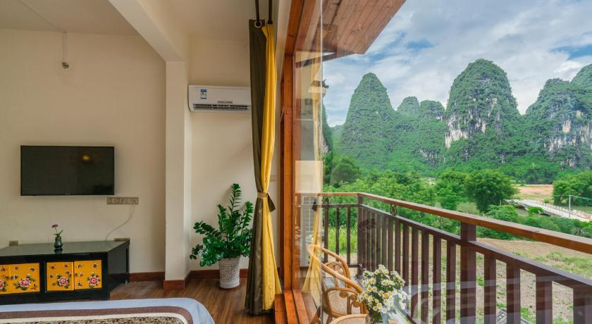 Balcony/terrace Yulong Riverside Boutique Yangshuo