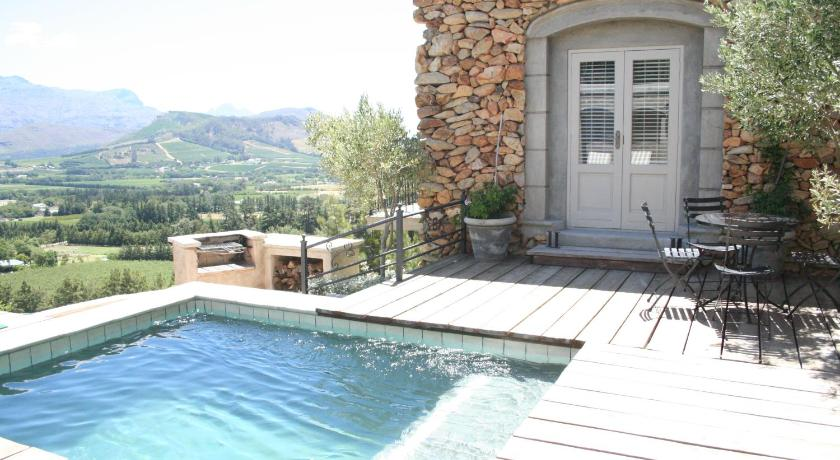 Swimming pool Franschhoek Pass Villa