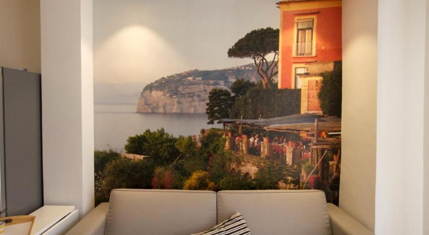 Appartement mit Terrasse - Bett Sorrento Central Flat