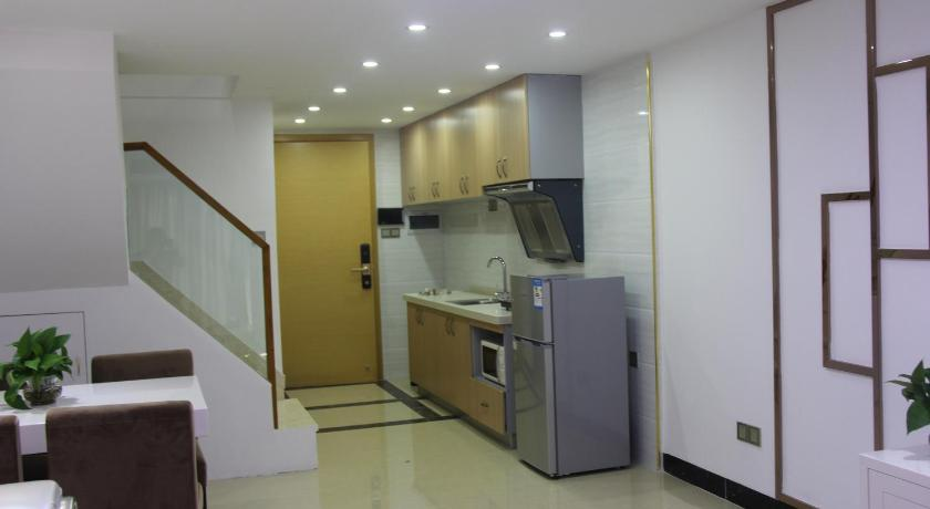 kitchen Private Enjoy Home Apartment - Shiqiao Metro Station