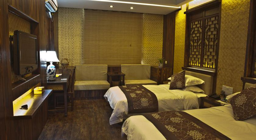 Twin Room with Extra Bed Wuyishan Yiyuan Tiancheng Tea Culture Experience Hotel